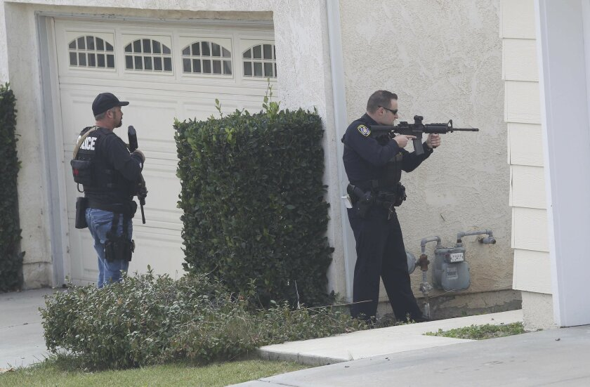A homicide suspect from Anaheim was located in Tierrasanta off Antigua Road near Kumeyaay Elementary School.  The school was shut down as SDPD officers searched house to house for the suspect.