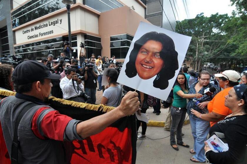Con Henry Javier Hernández Rodríguez suman ocho las personas detenidas hasta ahora por el asesinato de Berta Cáceres en la ciudad de La Esperanza, departamento occidental de Intibucá, donde vivía. EFE/Archivo