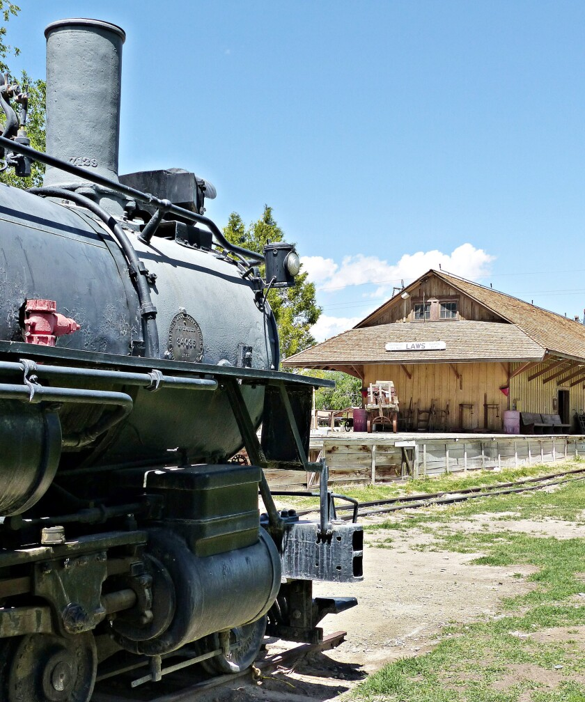 BISHOP, CA-- At the Laws museum just outside the town of Bishop, where now blossoms an 11 -acre re-c