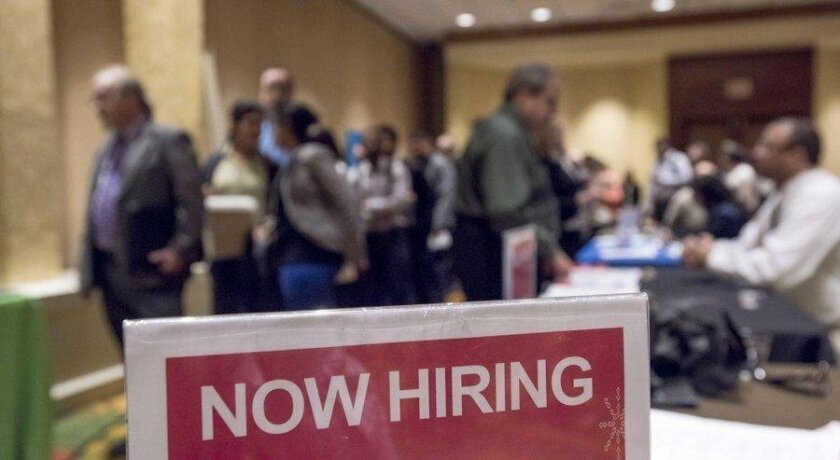 Job creation in San Diego remains healthy, despite an increase in the county's unemployment rate