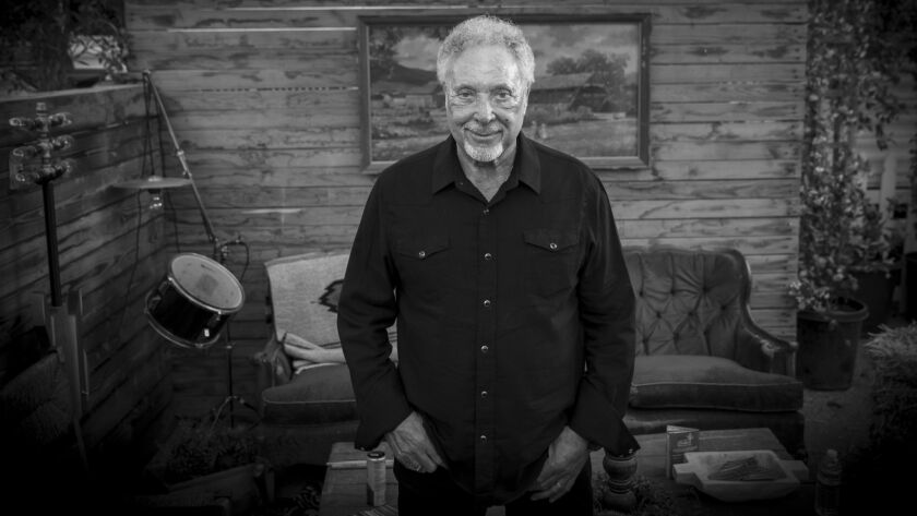 INDIO, CALIF. -- SUNDAY, APRIL 28, 2019: Tom Jones poses for a portrait backstage before performing