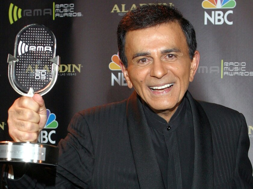 FILE - In this Oct. 27, 2003, file photo, Casey Kasem poses for photographers after receiving the Radio Icon award during The 2003 Radio Music Awards in Las Vegas. A Los Angeles judge on Monday, June 9, 2014, ruled that Kasem should receive food, hydration and medication while a court-appointed attorney travels to Washington state to evaluate the ailing radio personality and make a recommendation about his ongoing care. (AP Photo/Eric Jamison, File)