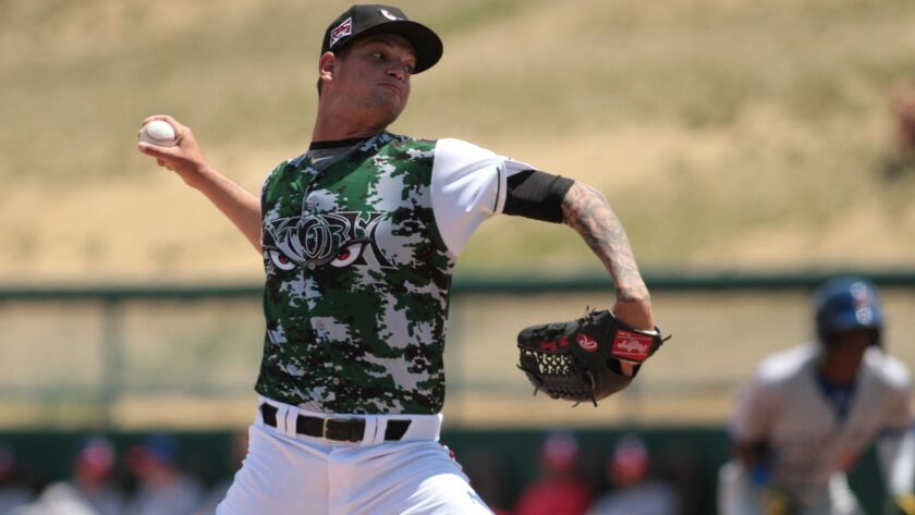 Padres pitching prospect Michel Baez started the 2018 season with high Single-A Lake Elsinore.