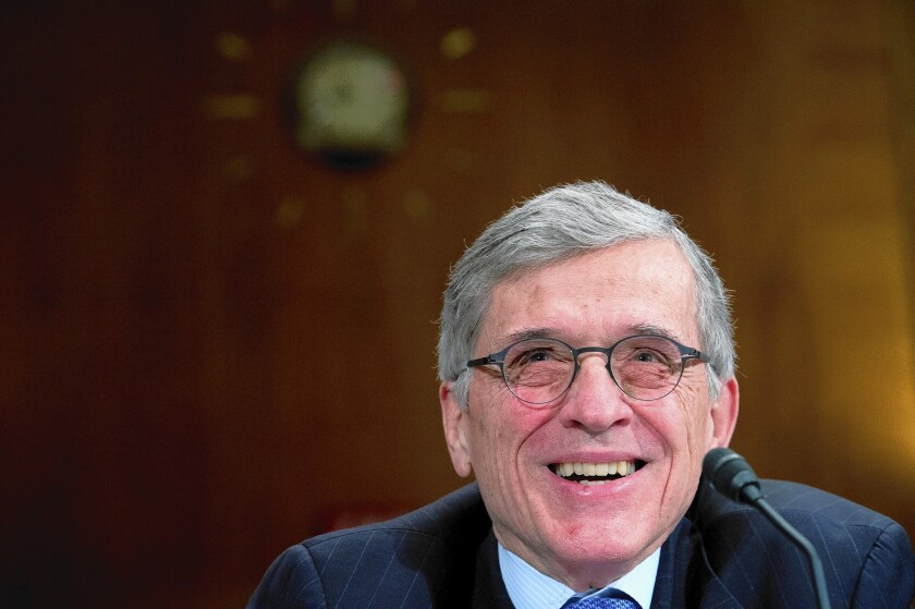 Federal Communications Commission Chairman Tom Wheeler discusses the FCC budget request on Capitol Hill.