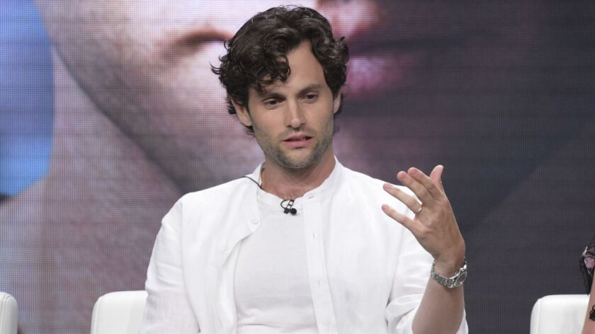 """Penn Badgley participates in Lifetime's """"You"""" panel during the Television Critics Assn. press tour at the Beverly Hilton hotel on Thursday."""