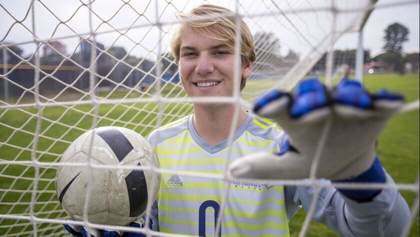 CdM boys' soccer junior goalkeeper Wally Korbler is the High School Male Athlete of the Week.