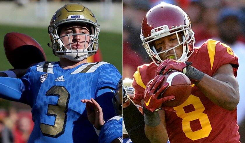 UCLA quarterback Josh Rosen, left, and USC cornerback Iman Marshall were among the players chosen as freshman All-Americans by USA Today..