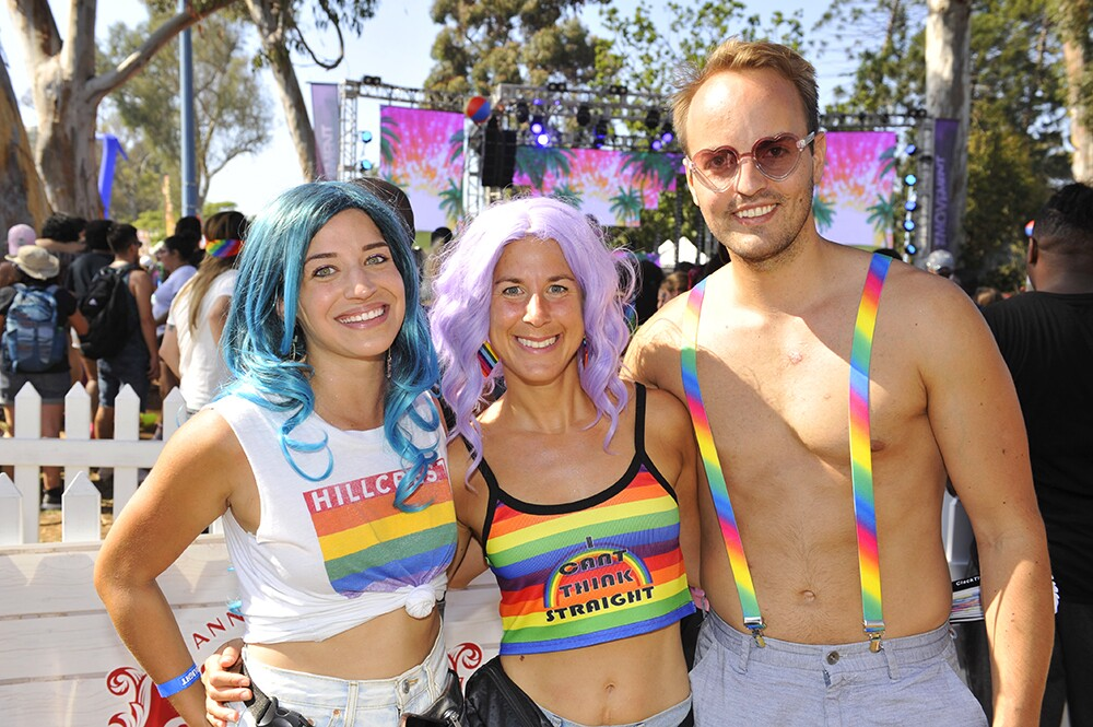 All the colors of the rainbow gathered to celebrate love at the San Diego Pride Festival on Saturday, July 13, 2019.