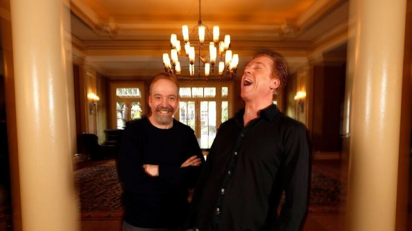 Paul Giamatti and Damian Lewis as 'The Odd Couple'? The 'Billions' costars have a laugh about that and more