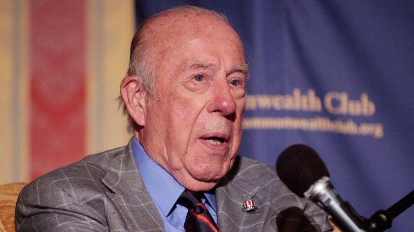 George P. Shultz speaks in 2010.