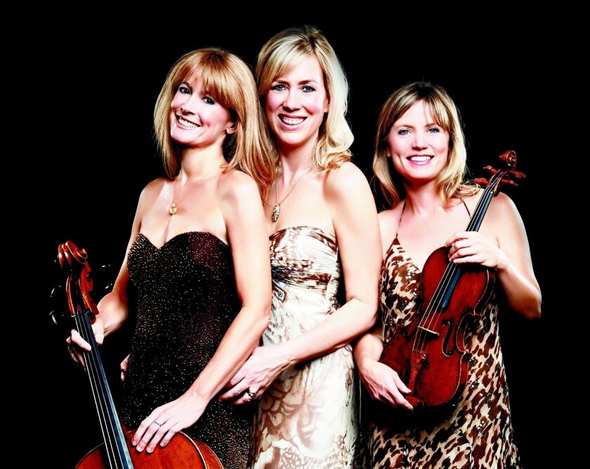 The Eroica Trio performs May 17 at the Poway Center for the Performing Arts. CREDIT: Poway Center for the Performing Arts