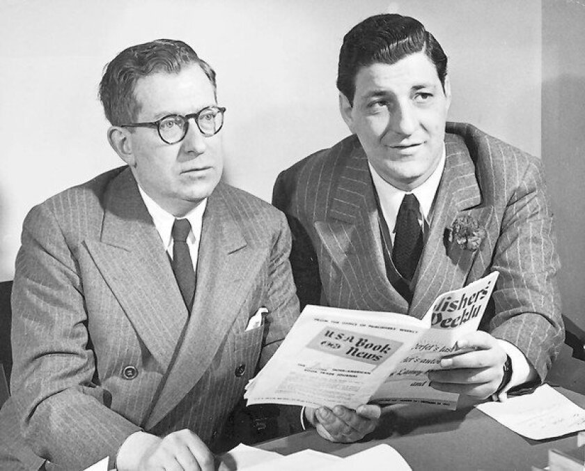 John Farrar, left, and Roger W. Straus Jr. in 1946, not long after Farrar, Straus & Co. was incorporated.