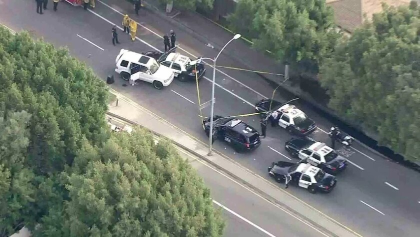 El Segundo police fatally shoot man after pursuit Wednesday.
