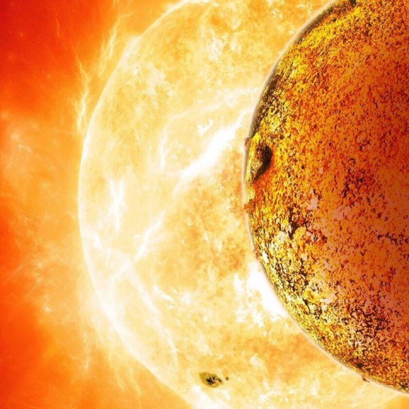 This artist's rendition released by NASA shows Kepler-78b orbiting its parent star.