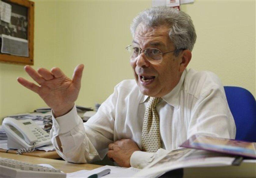 This June 29, 2009 photo shows Carlo De Gresti, spokesman of the Antonio Provolo Institute in Verona, Italy. (AP Photo/Luca Bruno)