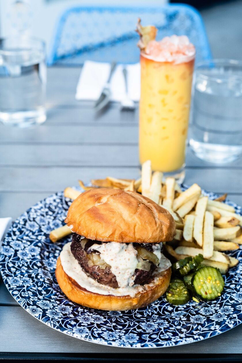 The Fort Oak wood-fired burger.