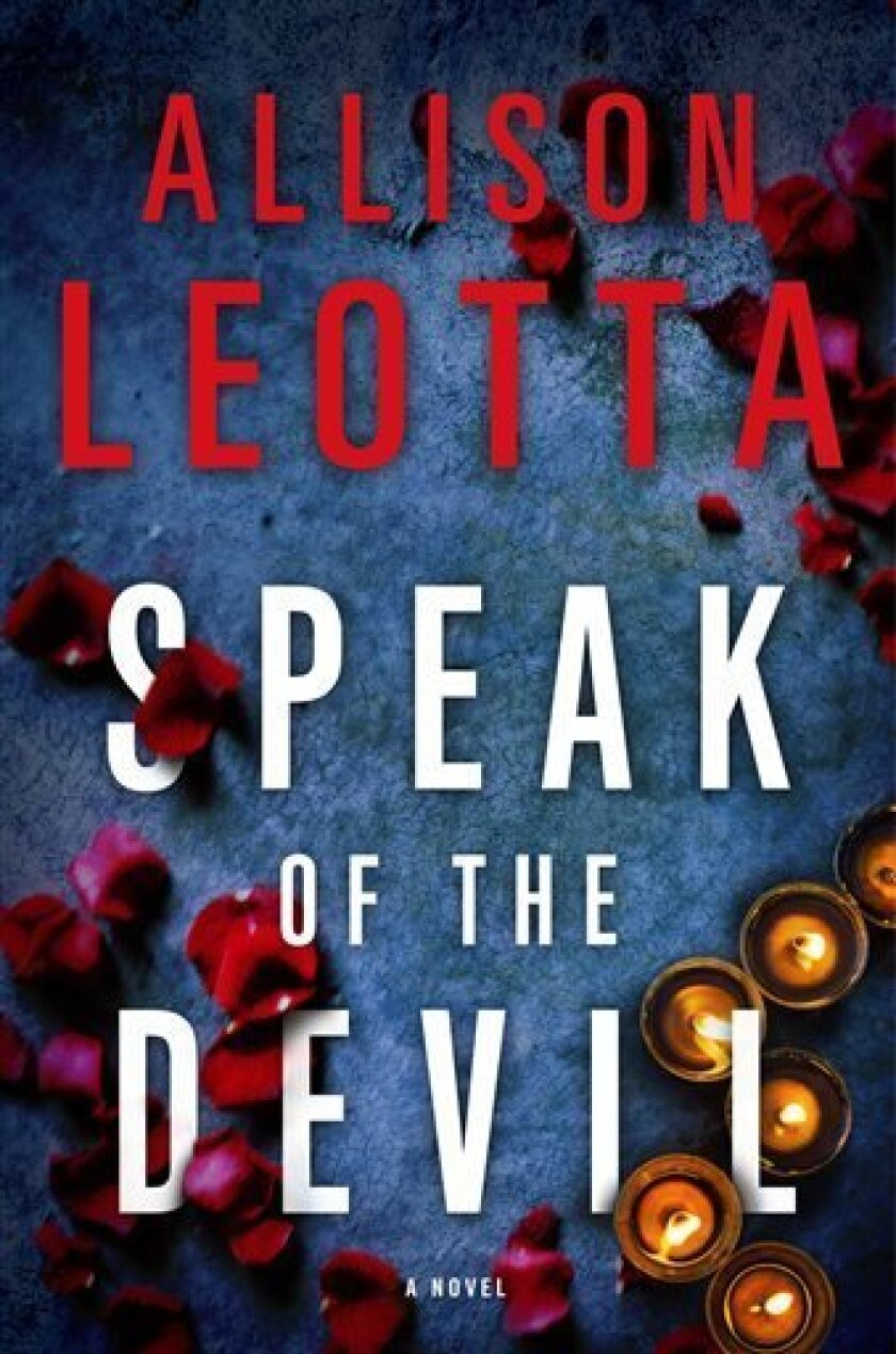 """This book cover image released by Touchstone shows """"Speak of the Devil,"""" a novel by Allison Leotta. (AP Photo/Touchstone)"""