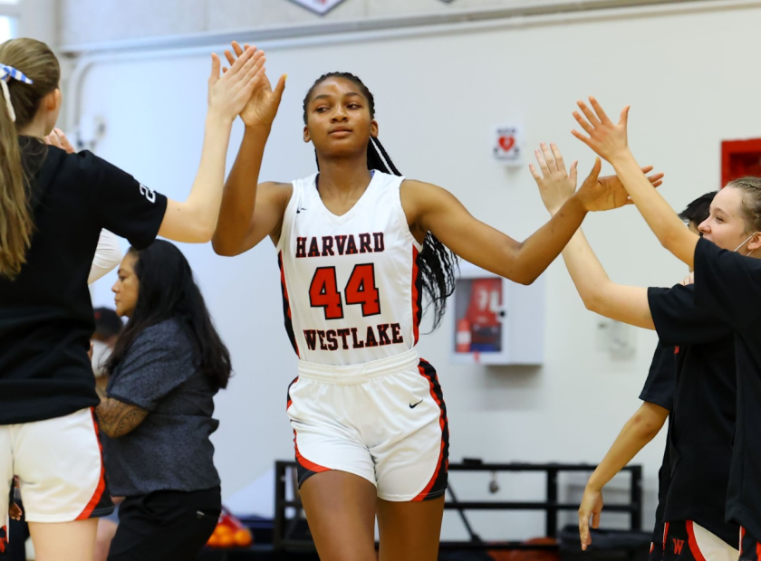 Harvard-Westlake's Kiki Iriafen had 37 points and 24 rebounds in Saturday's playoff win over Lynwood.