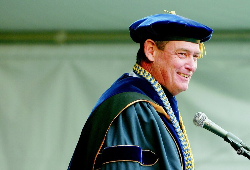 Timothy White, seen here in 2011, became the chief of the 23-campus California State University system in December 2012.