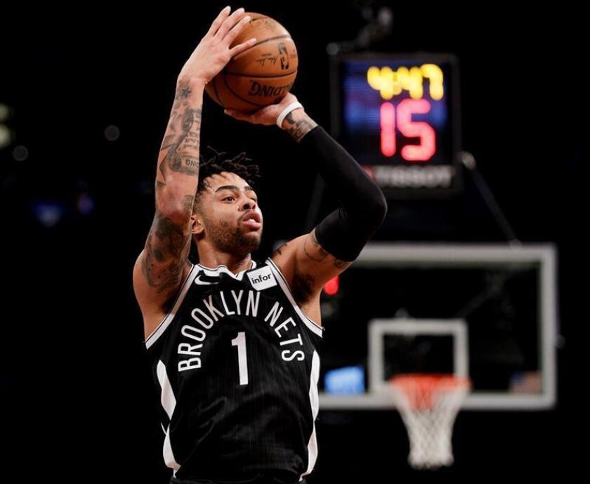 D'Angelo Russell de Brooklyn Nets en acción durante un partido de la NBA. EFE/Archivo