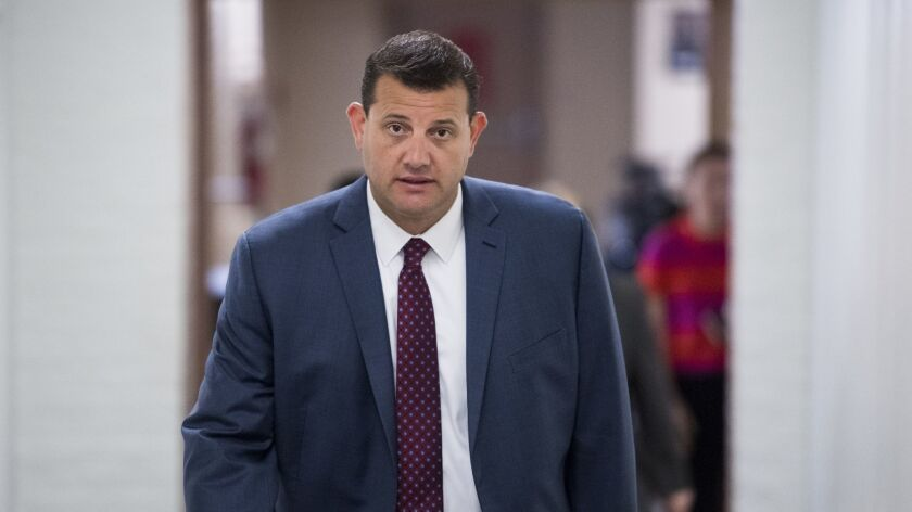 UNITED STATES - SEPTEMBER 26: Rep. David Valadao, R-Calif., arrives for the House Republican Confere
