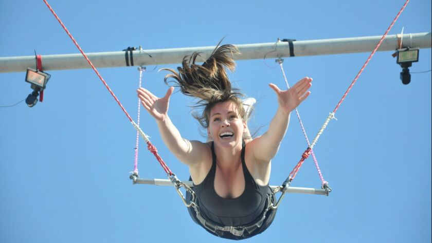 Flying high at Trapeze School New York Los Angeles. Credit: Trapeze School New York Los Angeles