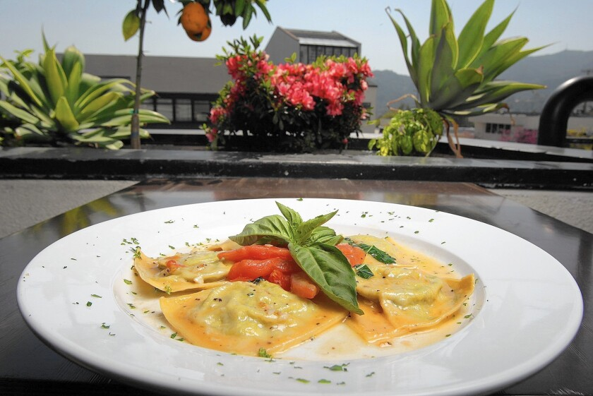 Ravioli with ricotta cheese and spinach at Trattoria Allegria