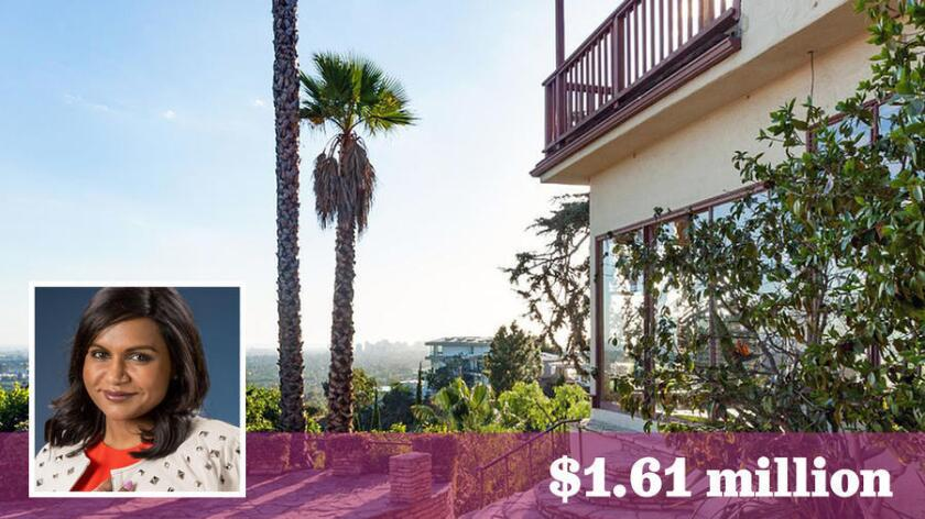 Actress-comedian Mindy Kaling has sold a home in Hollywood Hills West for $1.61 million.