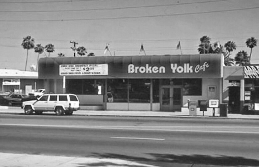 A vintage photo of the first Broken Yolk Cafe in Pacific Beach.