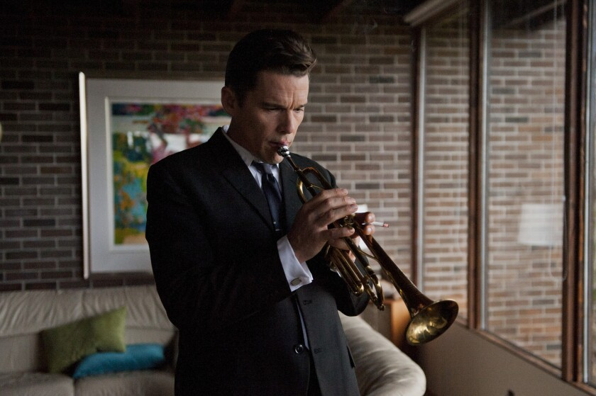 "Ethan Hawke (Chet Baker) in Robert Budreau's ""Born to Be Blue."""