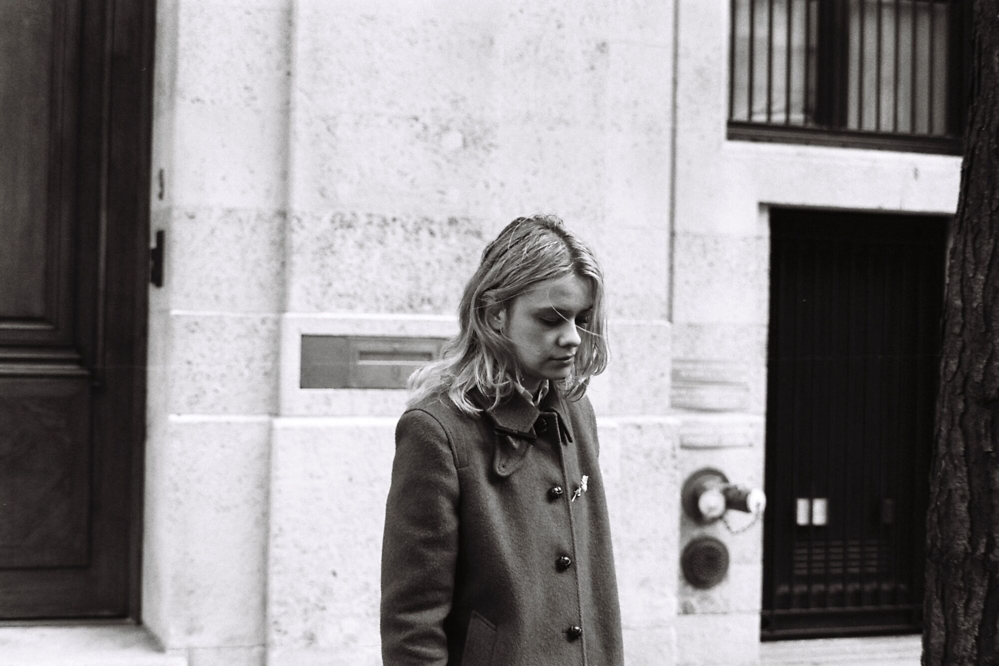 Dasha Nekrasova during filming.