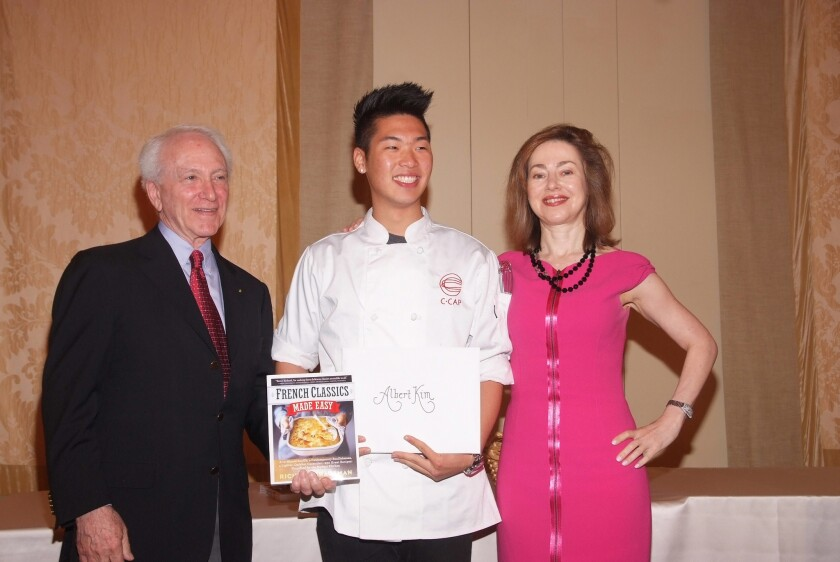 At the recent C-CAP competition, Albert Kim, a student from L.A.C.E.S. High School, received a scholarship for a bachelor's degree in culinary arts at Johnson and Wales University.