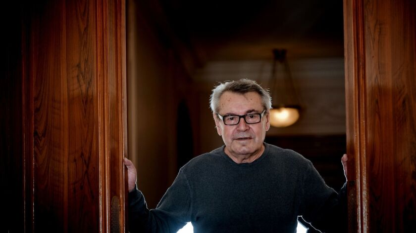 Filmmaker Milos Forman is shown in Paris in October 2009.