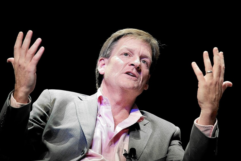 """The latest book by Michael Lewis, a financial journalist and author, is """"Flash Boys: A Wall Street Revolt."""""""