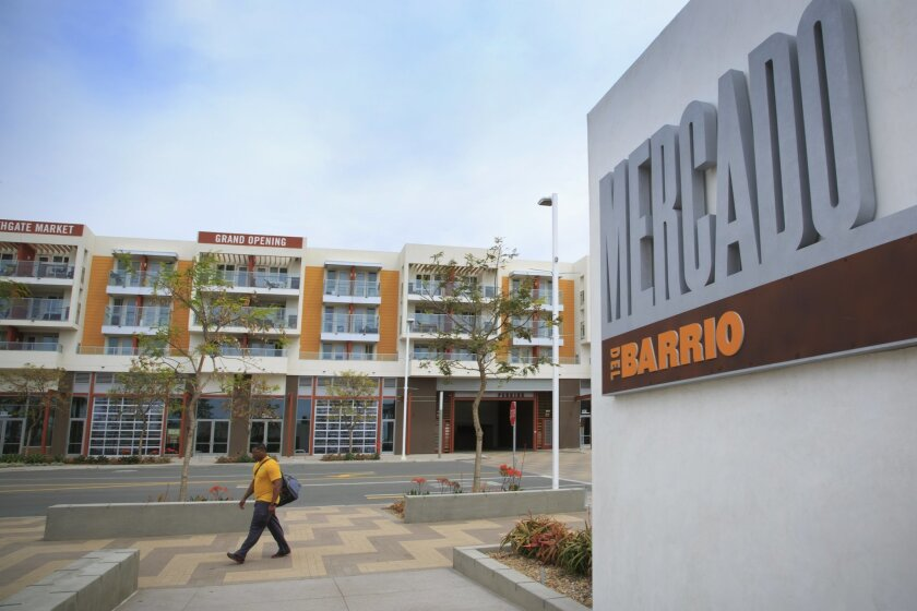 A recent example of an affordable housing project is the Mercado del Barrio, which offers 92 private apartments above and retail space below. The project opened in 2012  in Barrio Logan.
