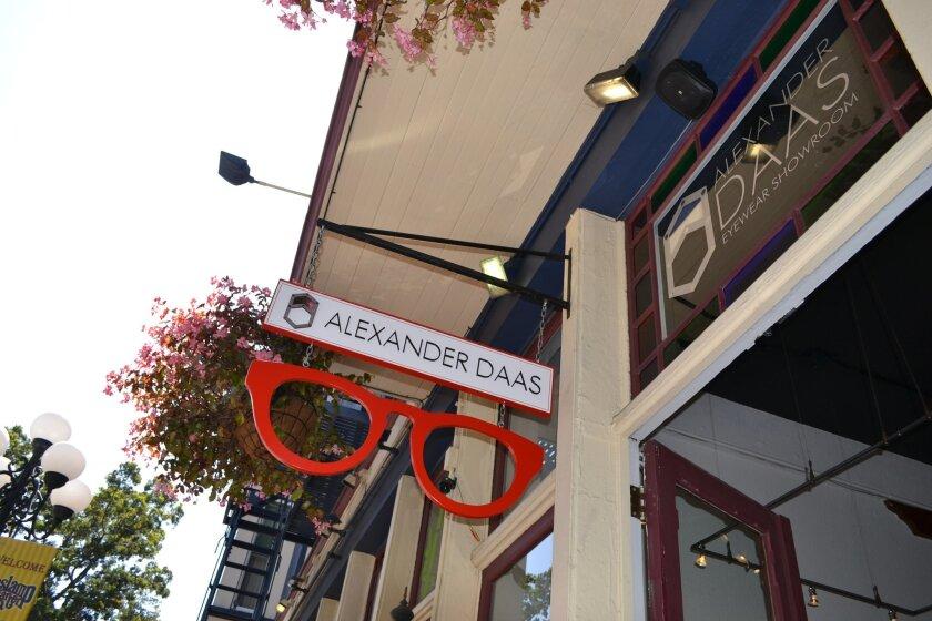 Luxury eyewear designer Alexander Daas opened a new showroom in San Diego's Gaslamp Quarter this month.