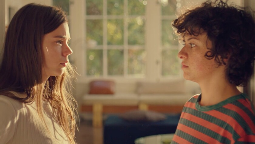 "(L-R) - Alia Shawkat and Laia Costa in a scene from ""Duck Butter."" Credit: Hillary Spera / The Orcha"
