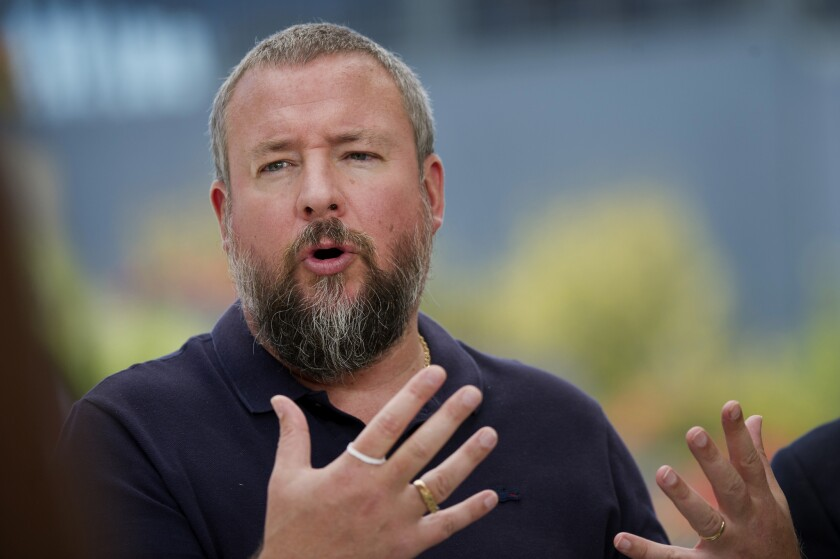 Shane Smith, co-founder and chief executive of Vice Media Inc., speaks during a Bloomberg Television interview at the Vanity Fair New Establishment Summit in San Francisco last month.