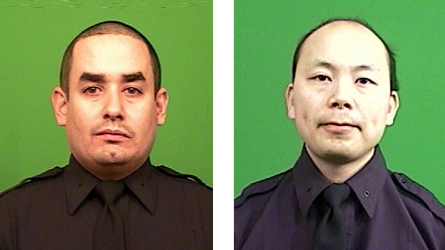 Officer Rafael Ramos, 40, left, had been with the NYPD two years. Officer Wenjian Liu, 32, had been with the department seven years.