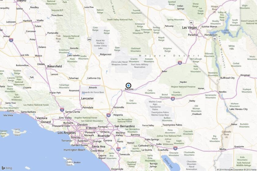 Earthquake: 4.0 quake strikes near Barstow