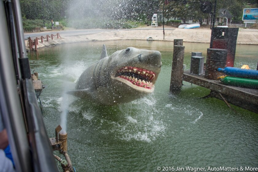 The shark from Jaws on the Studio Tour