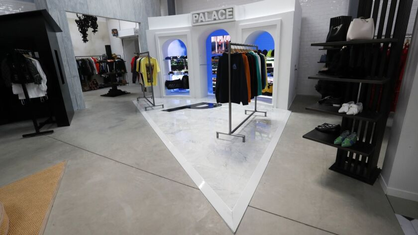 The Palace space at the new Dover Street Market marks the brand's first retail space in Los Angeles.