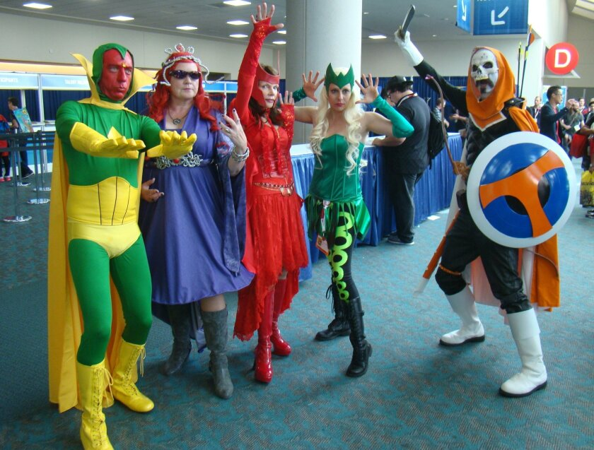 Liz and Gary Ochs with their group of Cosplayers in 2015.