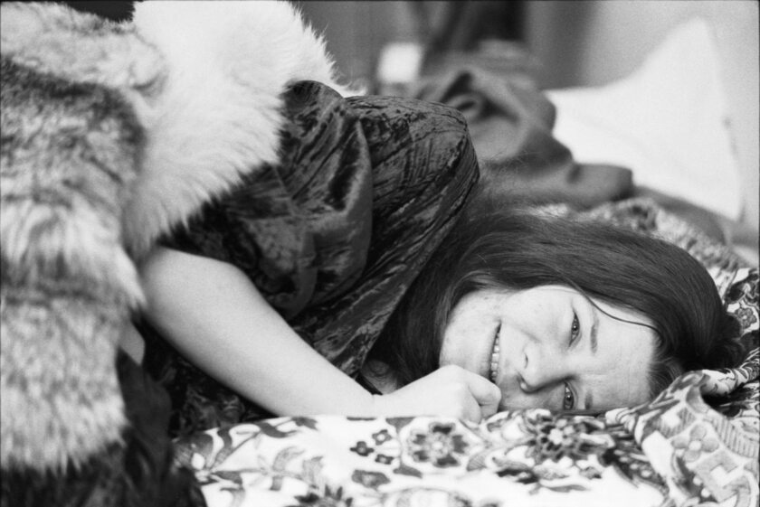 Janis Joplin at the Chelsea Hotel in 1969.