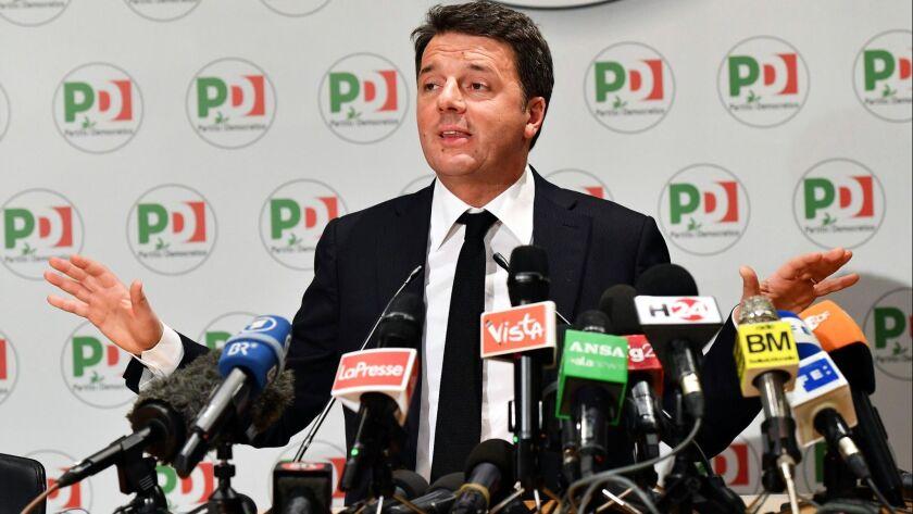 Renzi resignation, Rome, Italy - 05 Mar 2018