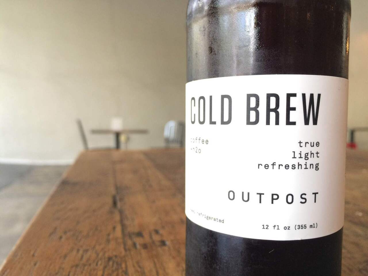 Founded by a crew of former Handsome Coffee Roasters employees, Outpost cold brews specialty coffee beans for 24 hours.