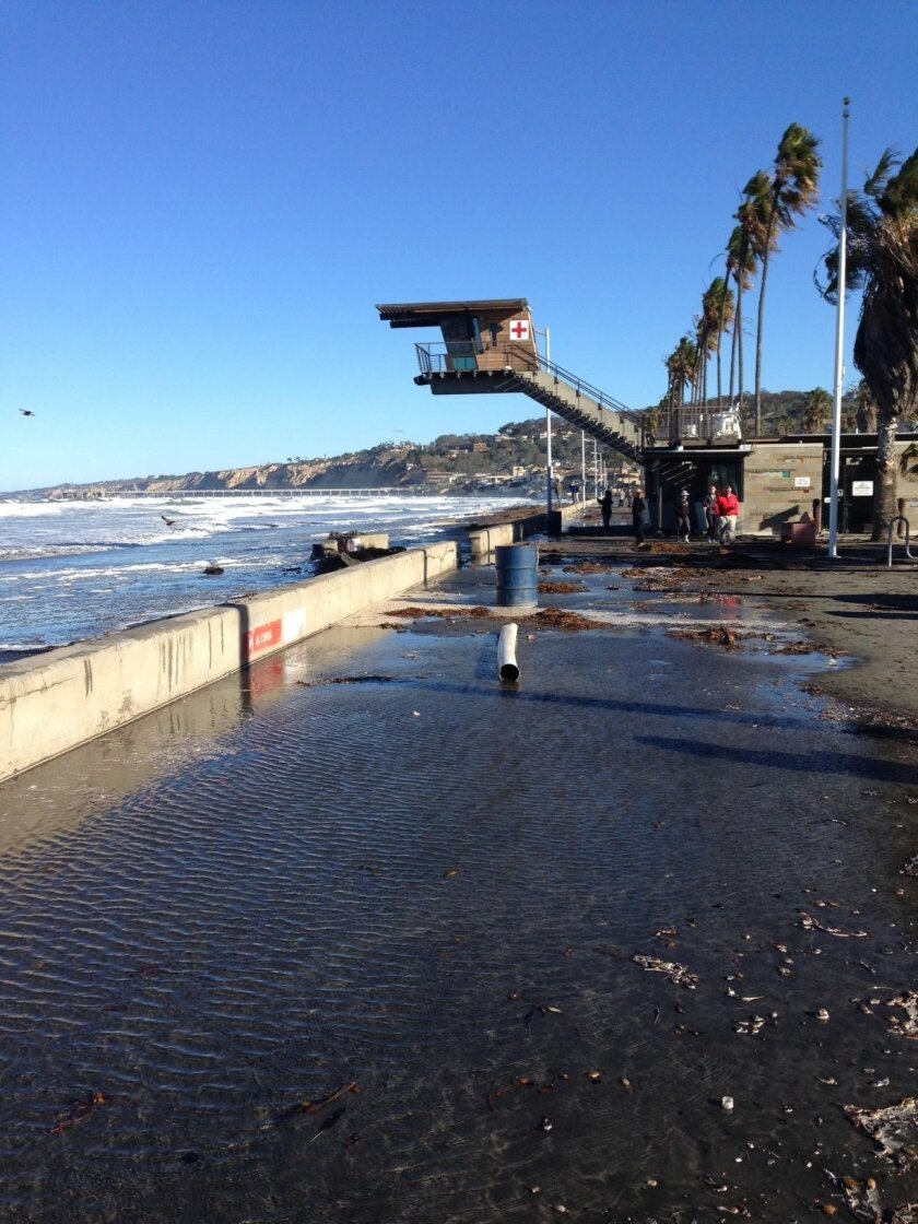 La Jolla Shores after an El Niño storm, winter 2016