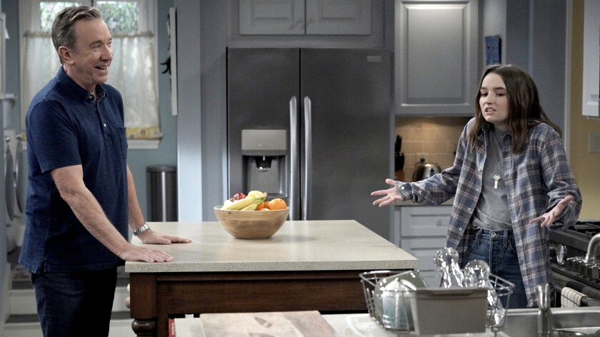 "Tim Allen and Kaitlyn Dever in the season finale of ""Last Man Standing"" on Fox."