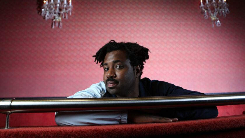 Sampha photographed at the El Rey Theatre in Los Angeles ahead of a recent sold-out show.
