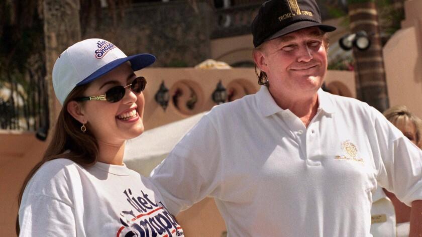 Alicia Machado and Donald Trump in 1997